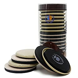 High quality EVA foam felt pads,16 pieces value pack protect hardwood, ceramic tile, linoleum floors and all hard surfaces from marring ,noise and scratches EVA foam sliders keep your wooden floors no scratches and noise, move easily well. Reusable s...