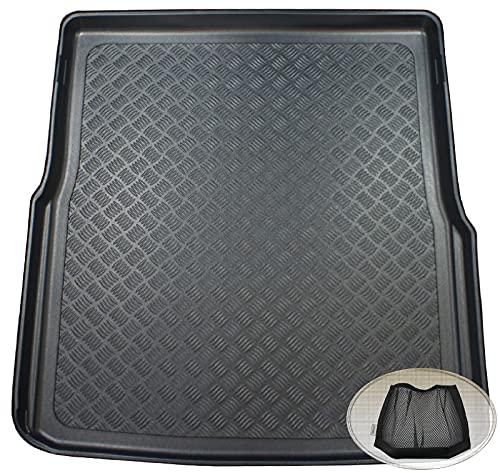 ZentimeX Z3349526 Geriffelte Kofferraumwanne fahrzeugspezifisch + Klett-Organizer (Laderaumwanne, Kofferraummatte)