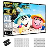 Projector Screen 150 inch, Taotique 4K Movie Projector Screen 16:9 HD Foldable and Portable Anti-Crease Indoor Outdoor Projection Double Sided Video Projector Screen for Home, Party, Office, Classroom