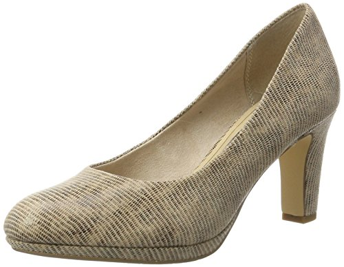 Tamaris Damen 22420 Pumps, Beige (Nature Struct. 319), 37 EU