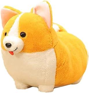 JJZXD Auspicious Beginning Shiba Inu Plush Throw Pillow Cute Corgi Akita Stuffed Animal Soft Plush Doll Dog Kawaii Plush Toy