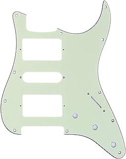 Musiclily Pro 11 Agujeros HSH Strat Pickguard Golpeador para Guitarra Fender American/México Standard Stratocaster Estilo Moderno, 3 capas Mint Green