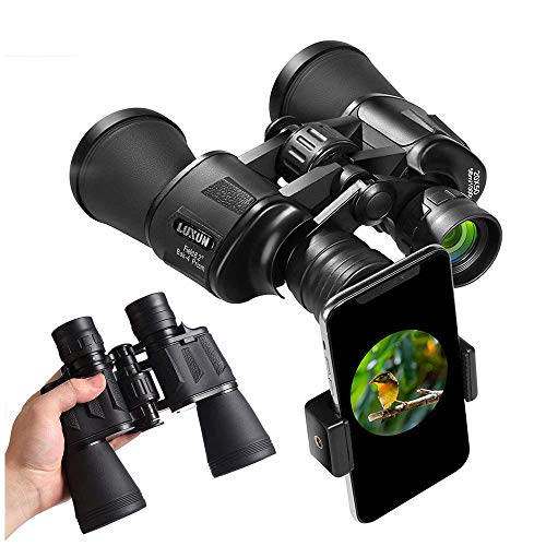 20x50 Binoculars for Adults,High Power HD With Weak Light Night Vision Waterproof Binoculars for Bird Watching Travel Hunting Football Concerts