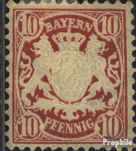 Prophila Collection Bayern 39a geprüft 1876 Staatswappen (Briefmarken für Sammler)