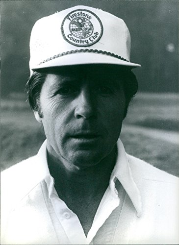 Vintage photo of Close up of South African Golfers Gary Player.