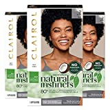 Clairol Natural Instincts Semi-Permanent, 2 Black, Midnight, 3 Count