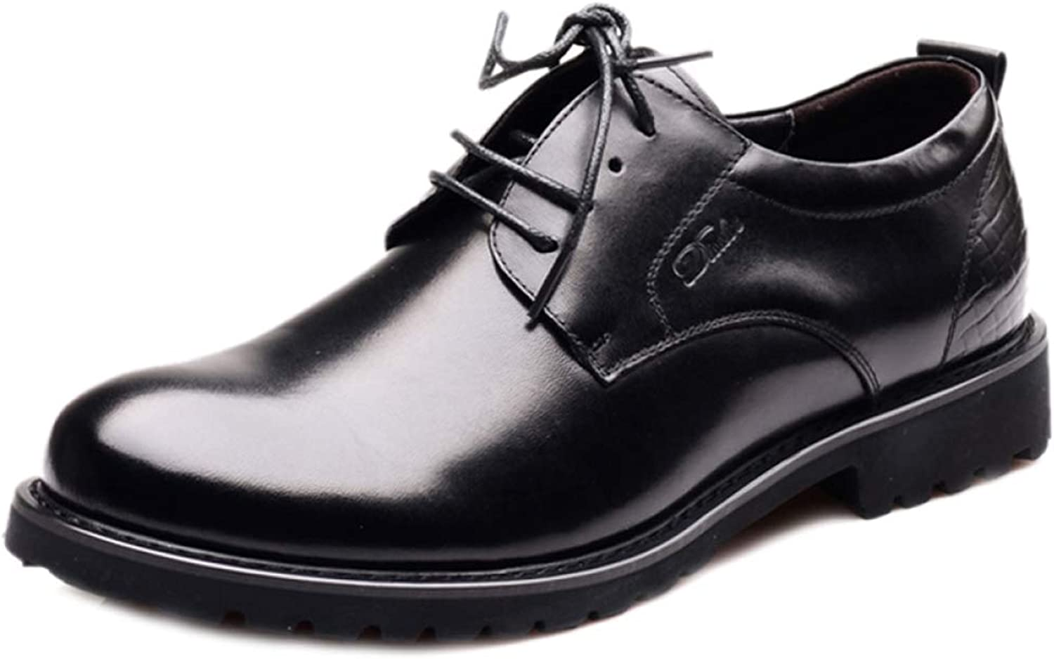 Men's Lace Derby shoes Business Casual Workwear shoes Formal Office Classic Leather shoes