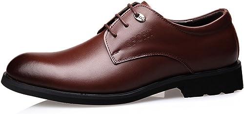 OEMPD Herren Lederschuhe Business Casual Schnürschuhe Kleid Schuhe