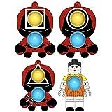 hnlzsm 3 piezas de calamar juego reductor de presión, juego de calamar, juguete de burbujas de empuje juguetes sensoriales estallando juego de 4 piezas