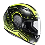HJC Helmets CS-15 Safa - Casco Moto, Negro/ Amarillo, talla