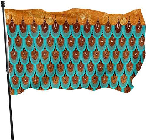 N/A American Guard Vlag Banner Welkom Vlaggen Zeemeermin Schalen Fade Resistant Indoor Yard voor Vakantie Patio Wanddecoratie 3x5 Ft