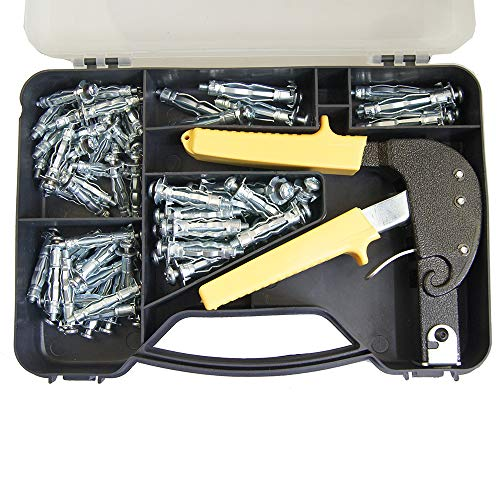 405504 Plasterboard Anchors Pliers Fixing Tool Kit 72PC