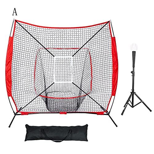 LOFAMI Baseball Softball Practice Combo Baseballs Set, Zona di sciopero, Baseball Backstop Practice Net per Aver Colpito Il Pitching Batting Catching 7 x 7 Piedi (Dimensione : A)