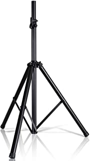 Pyle Universal Speaker Stand Mount Holder  Heavy Duty Tripod w/ Adjustable Height from 40� to 71� and 35mm Compatible Insert  Easy Mobility Safety Pin and Knob Tension Locking for Stability PSTND2