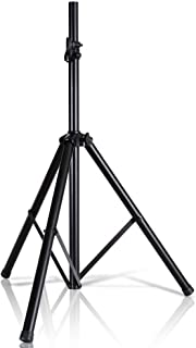"Pyle Universal Speaker Stand Mount Holder - Heavy Duty Tripod w/ Adjustable Height from 40"" to 71"" and 35mm Compatible Insert - Easy Mobility Safety PIN and Knob Tension Locking for Stability PSTND2"