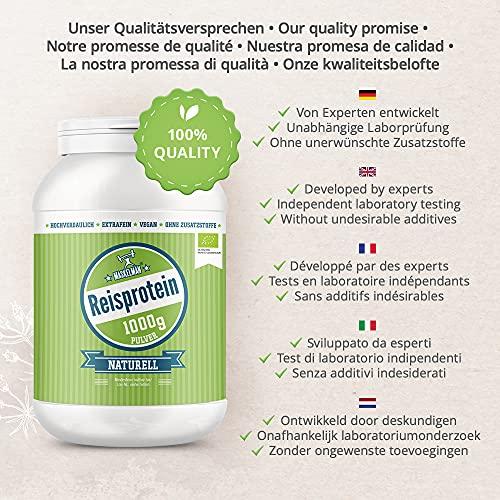 Maskelmän Reisprotein 80% – extrafein – Bio – 1000g - 2