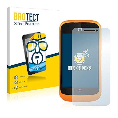 BROTECT Schutzfolie kompatibel mit ZTE Open L (2 Stück) klare Bildschirmschutz-Folie