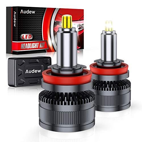 Audew H11 LED Lampadine 36SMD 360° Chips Lampade a Fari LED H11 H8 H9 Kit 10000lm 12V 6000K Sostituzione per Luci Abbaglianti e Anabbaglianti Bianco