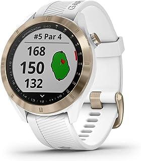 $219 » Garmin Approach S40, Stylish GPS Golf Smartwatch, Lightweight with Touchscreen Display, White/Light Gold (Renewed)