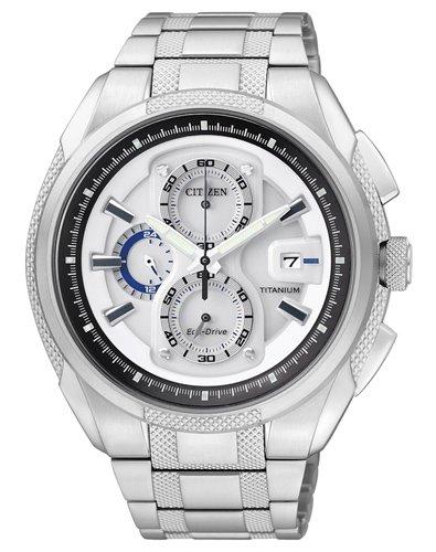 Citizen Herren-Armbanduhr Chronograph Super Titanium CA0200-54B