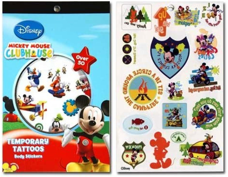 WeGlow International Mickey Mouse Clubhouse 4 Sheet Tattoo Book (Set of 3)