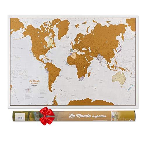 La carte du monde à gratter
