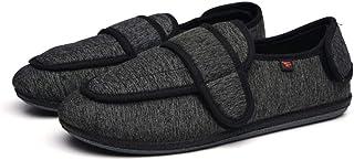 WUHUI Hommes Chaussons Diabétiques Chaussure Orthopédique, Chaussures de rééducation postopératoire, A_49, Réglable Pantou...