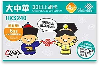 【正規オリジナル版】4G高速データ通信 大中華 中国全省 香港 澳門 台湾 30日間利用可能 4G(LTE)通信データ容量3GB 128kbps通信無制限 日本語マニュアル付き プリペイド SIMカード
