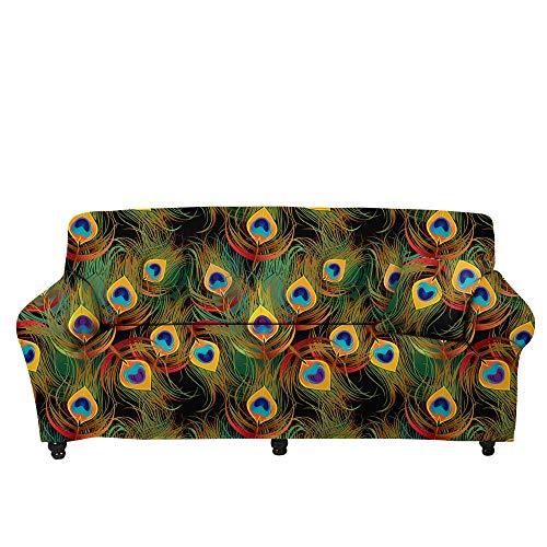 CC.Stars Elastano Fundas de sofá Suaves Resistentes,Funda de sofá con Estampado de Estrella de Cinco Puntas 3D, Funda de sofá elástica, cojín para sofá de Sala de Estar-Color1_235-300cm