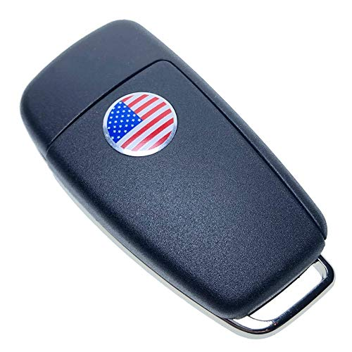 Uniqkey R8 Style All in One Flip key remote Replacement for ES300 D1 Keyless Entry Control Fob Clicker switchblade Transmitter folding transponder chip Alarm beeper