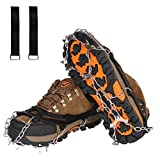 Ice Cleats Snow Grips Crampons for Winter Boots Walk Traction Cleats, 10 Ice