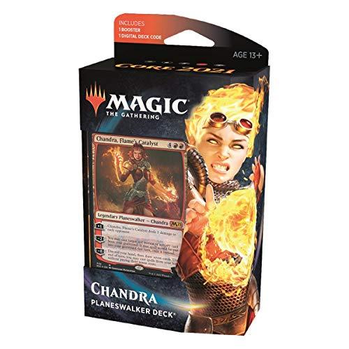 MTG Core Set 2021 Planeswalker Deck Inglés, Chandra, Flame's Catalyst, Magic: The Gathering