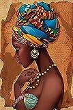 Puzzles para adultos 1500 piezas, pintura de mujer africana, rompecabezas de madera