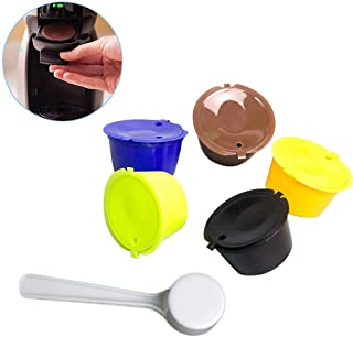 Multicolore Medium ShangSky Capsules de caf/é r/éutilisables et Rechargeables pour dosettes de caf/é Dolce Gusto
