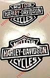Adhesivo con el logotipo de Harley Davidson, dos pegatinas resinadas con efecto 3D. Para el depósito o el casco.