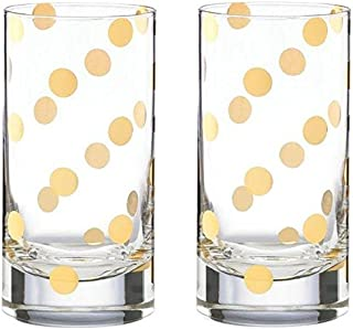 kate spade new york Pearl Place 2 Piece 16 Ounce Highball Glass Set