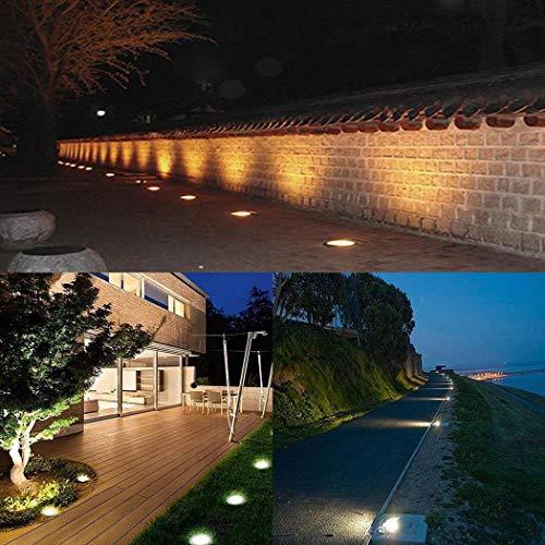 Kloius Home Garden Solar Power 5 LED Lámpara enterrada Lámpara de Parque subterráneo para césped al Aire Libre Iluminación de Caminos