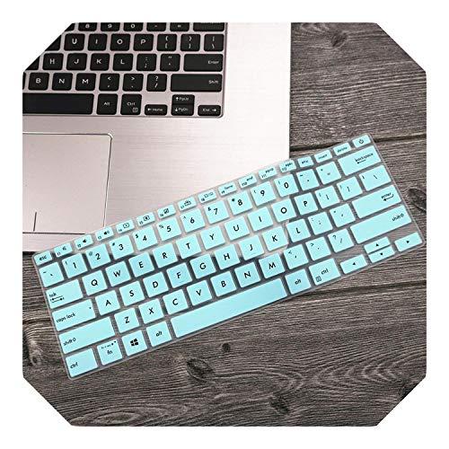 """Housse de protection pour clavier d'ordinateur portable Asus ZenBook 14 UX433 UX433FN UX433FA8265 2019 - 14"""" - Blanc/bleu"""