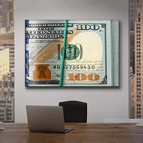 yaoxingfu Puzzle 1000 Piezas Dólar Dinero Inspirador Dibujo Arte Imagen Puzzle 1000 Piezas Juego de Habilidad para Toda la Familia, Colorido Juego de ubicación.50x75cm(20x30inch)