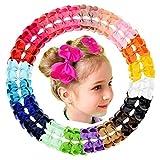 40 Stück 11,4 cm Haarschleifen Krokodilklemmen Ripsband Hair Boutique Fashion Haarschmuck für Babys Kleinkinder Teenager Geschenke in Paaren
