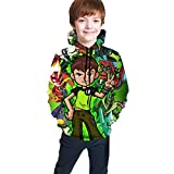 Children's Hoodies 3D Printed Pullover Hooded Sweatshirts for Kids/Youth/Boys/GirlsS(7-8) Black