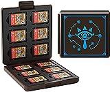 JINGDU Estuche de tarjetas de juego para Nintendo Switch, Caja de carcasa rígida portátil y delgada, Estuche de almacenamiento protector a prueba de golpes para Switch NS NX (Ojos)