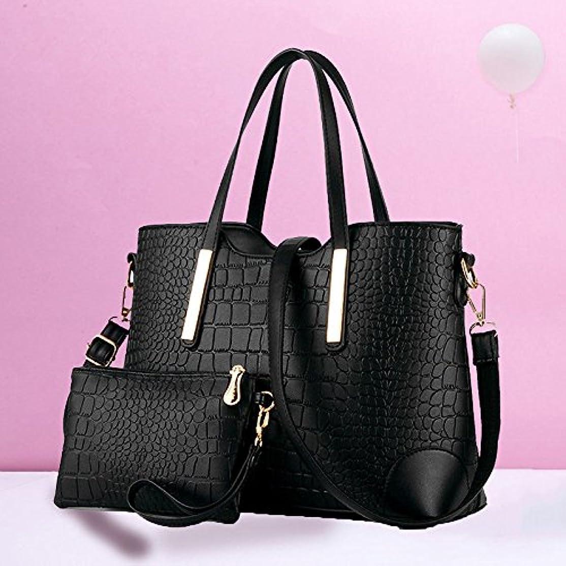 仕様もっともらしいブロンズシューズ&バッグ/ バッグ?スーツケース / レディースバッグ?財布 / バッグ /ショルダーバッグ/ Women Lady Trendy Crocodile Pattern Mother Shoulder Messenger Large 2PC/Set Bag