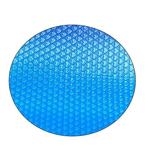 Gelentea Runde Pool Abdeckung Schutz Fuß über Boden Schutz Easy Set Schutz Schwimmbad Schwimmbad Blau, 360CMx360CM