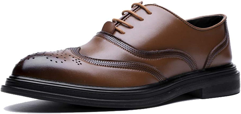 HILOTU Männer Oxford Schuhe Lässige Mode Retro Pinsel Farbe Klassische Laufsohle Brogue Schuhe Formelle Kleidung Schuhe  | Starker Wert