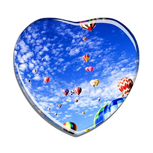 Hqiyaols Souvenir USA Amerika Albuquerque Kühlschrankmagnet Herzform Kristall Kühlschrank Aufkleber Magnet Reisen Geschenk Sammlerstücke Andenken