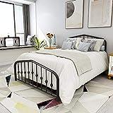Metal Bed Full Size Platform Bed Frame Morden Design Heavy Duty Steel Slat and 9-Leg Support (Full ,Black)