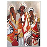 QWESFX Abstract Three Women Painting Kids Painting Set Painting by Numbers Canvas Art Prints Lienzo estirado para Pintar (Imprimir sin Marco) A4 50x100CM