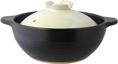 ふきこぼれにくい 深型 土鍋 宴 (うたげ) 6号 (約18cm) 1人~2人用