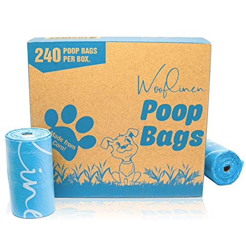 EcoFriendly Poop Bags   Biodegradable Dog Waste Bags Unscented Made from Corn   Large and Thick 16 Rolls 240 Count